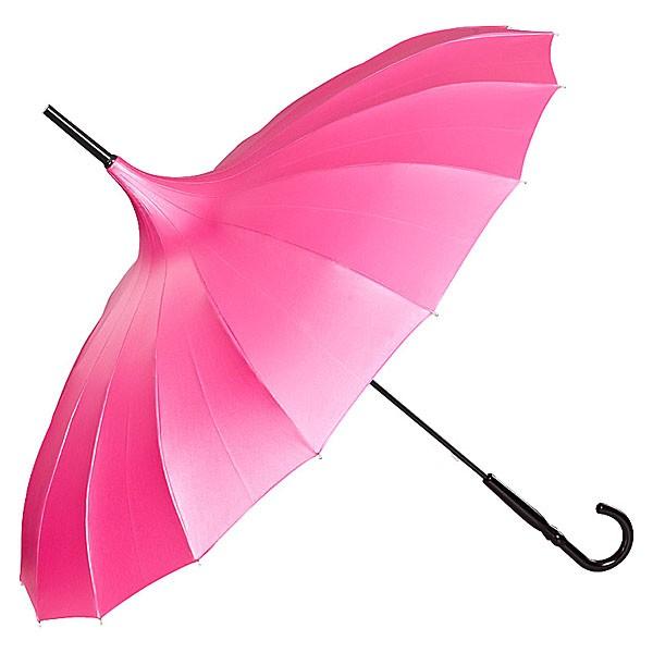 geschlossen wird der Regenschirm magnetisch